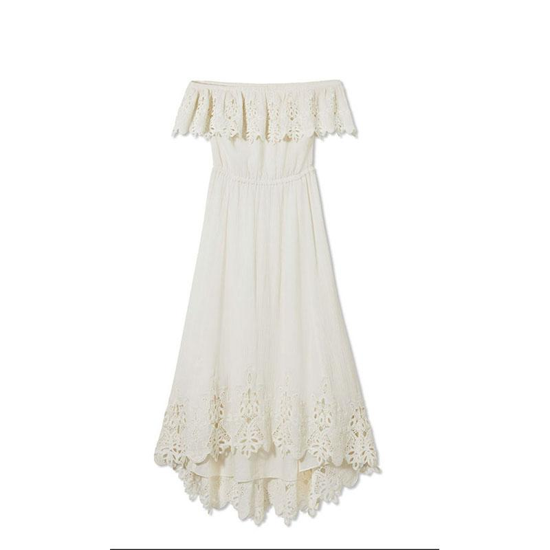 "<a rel=""nofollow"" href=""https://shoprachelzoe.com/shop/ready-to-wear/dresses/halsey-off-shoulder-eyelet-detail-highlow-dress/"">Halsey Off-The-Shoulder Dress, Rachel Zoe Collection, $445</a>"