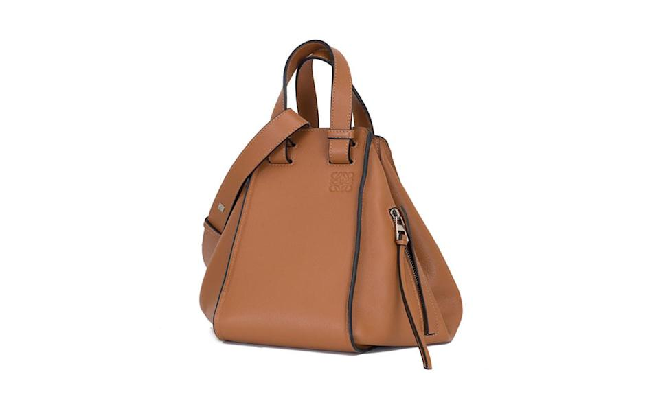 "<p>From the Puzzle to the Hammock — Loewe gives us yet another must-have bag this fall, and we must have it! </p><p>Loewe Hammock Bag, $2,450, <a href=""http://www.loewe.com/us_en/hammock-bag-tan-classic-calf-387-30-n27.html"" rel=""nofollow noopener"" target=""_blank"" data-ylk=""slk:Loewe.com"" class=""link rapid-noclick-resp"">Loewe.com</a></p>"