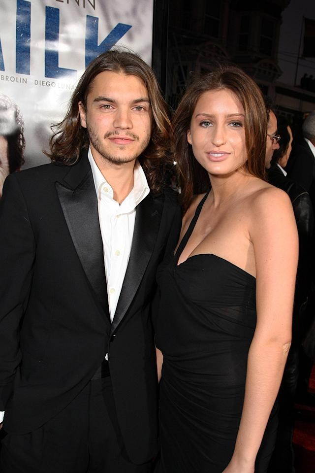 "<a href=""http://movies.yahoo.com/movie/contributor/1804492088"">Emile Hirsch</a> and guest at the San Francisco premiere of <a href=""http://movies.yahoo.com/movie/1810041985/info"">Milk</a> - 10/28/2008"