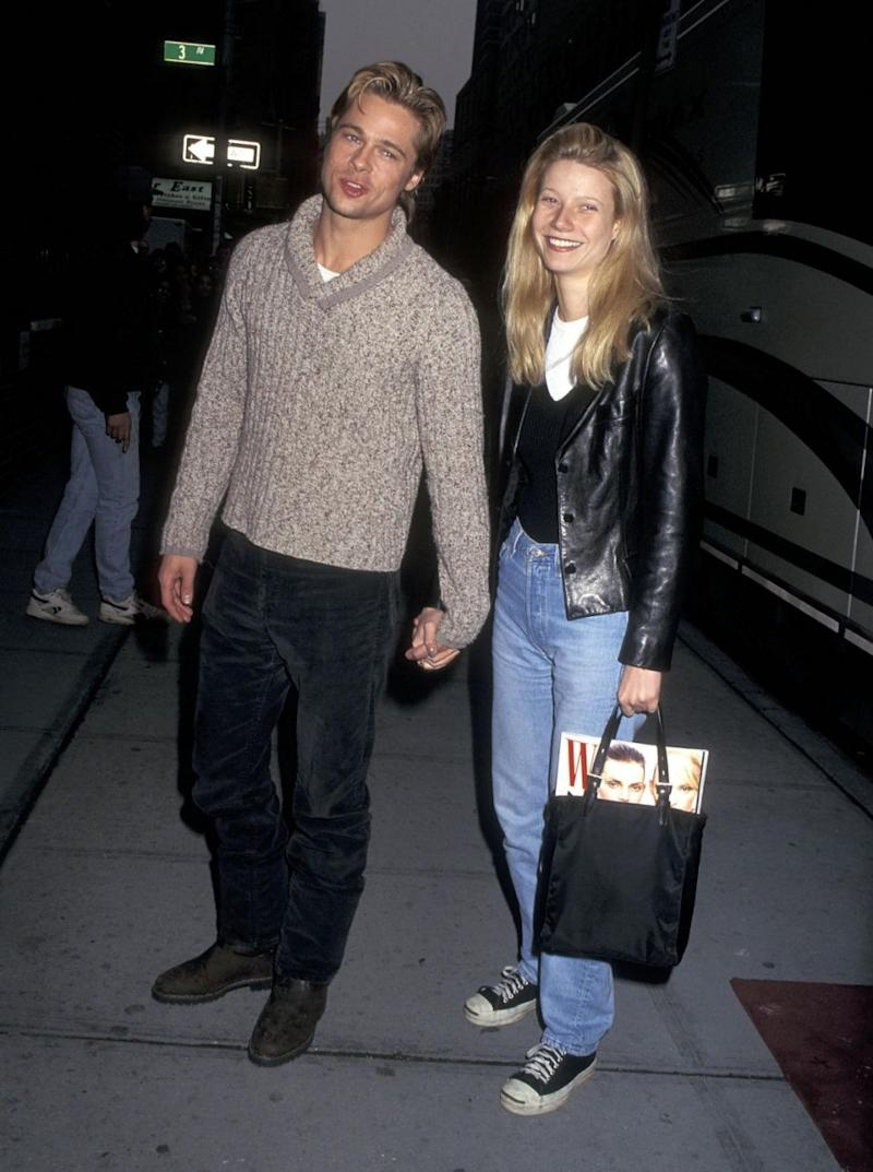 Brad dated actress Gwyneth in the 90's after meeting on the set of Seven. Source: Getty