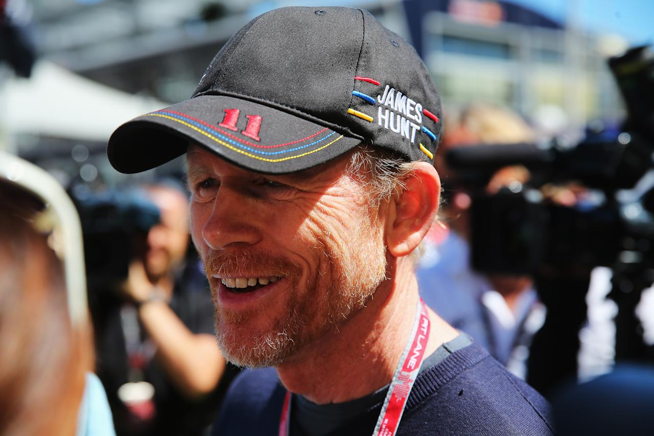 MONTE-CARLO, MONACO - MAY 26:  Director Ron Howard arrives in the paddock before the Monaco Formula One Grand Prix at the Circuit de Monaco on May 26, 2013 in Monte-Carlo, Monaco.  (Photo by Bryn Lennon/Getty Images)