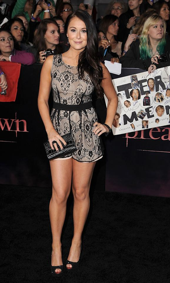 "<a href=""http://movies.yahoo.com/movie/contributor/1804487257"">Alexa Vega</a> at the Los Angeles premiere of <a href=""http://movies.yahoo.com/movie/1810158314/info"">The Twilight Saga: Breaking Dawn - Part 1</a> on November 14, 2011."