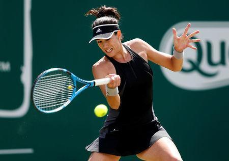 Tennis - WTA Premier - Nature Valley Classic - Edgbaston Priory Club, Birmingham, Britain - June 21, 2018 Spain's Garbine Muguruza in action during her second round match against Czech Republic's Barbora Strycova Action Images via Reuters/Ed Sykes