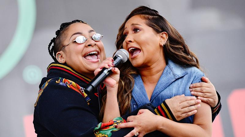 Raven-Symone and Adrienne Bailon Have Mini 'Cheetah Girls' Reunion at the Women's March
