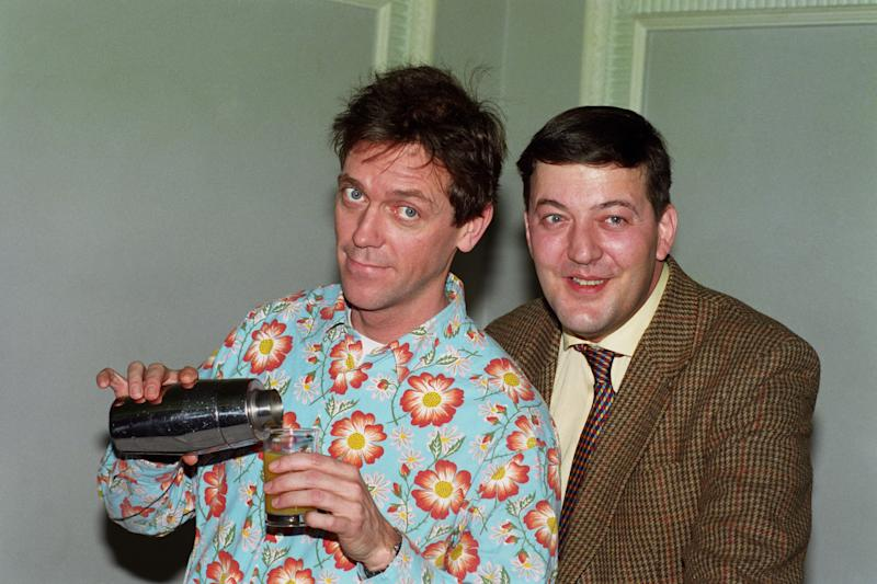 "HUGH LAURIE [L] AND STEPHEN FRY, DURING A PHOTOCALL IN LONDON FOR A NEW SERIES OF ""A BIT OF FRY & LAURIE"" TO BE SCREENED ON BBC-1."