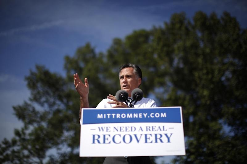 Republican presidential candidate, former Massachusetts Gov. Mitt Romney gestures while speaking at a campaign stop at Tidewater Community College in Chesapeake, Va., Wednesday, Oct. 17, 2012. (AP Photo/Charles Dharapak)