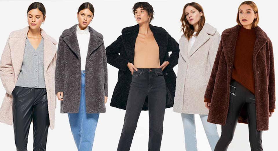 Searching for a cosy new coat? We've found a great one. (New Look)