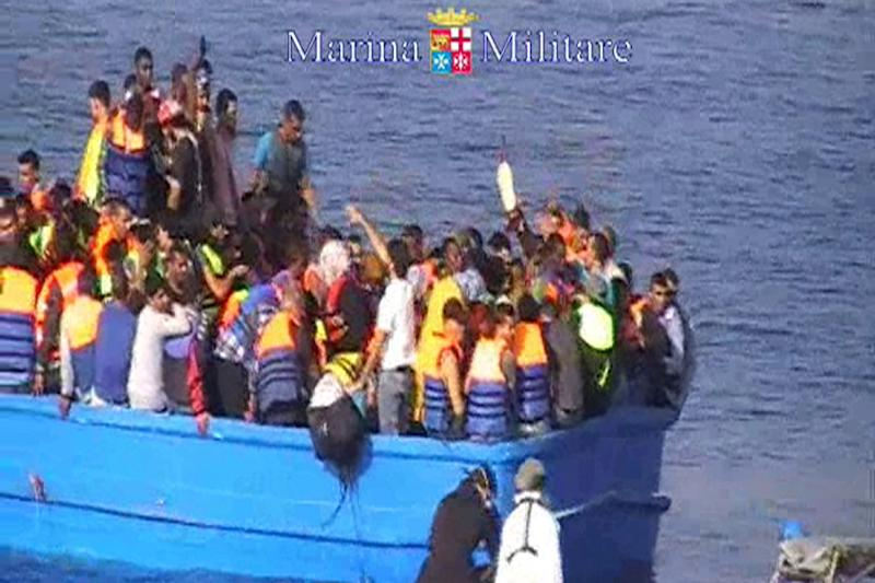 More than 3,500 migrants died while crossing the Mediterranean, according to the International Organization for Migration (AFP Photo/)