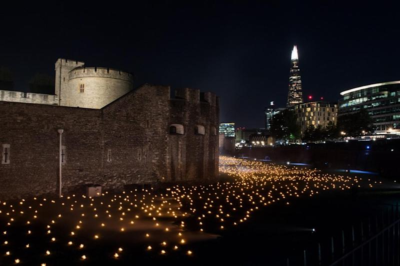 The flames will be in place every night until the centenary next weekend (MoD)