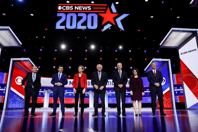 Candidates prepare to take part in the Democratic debate in Charleston, South Carolina: AP