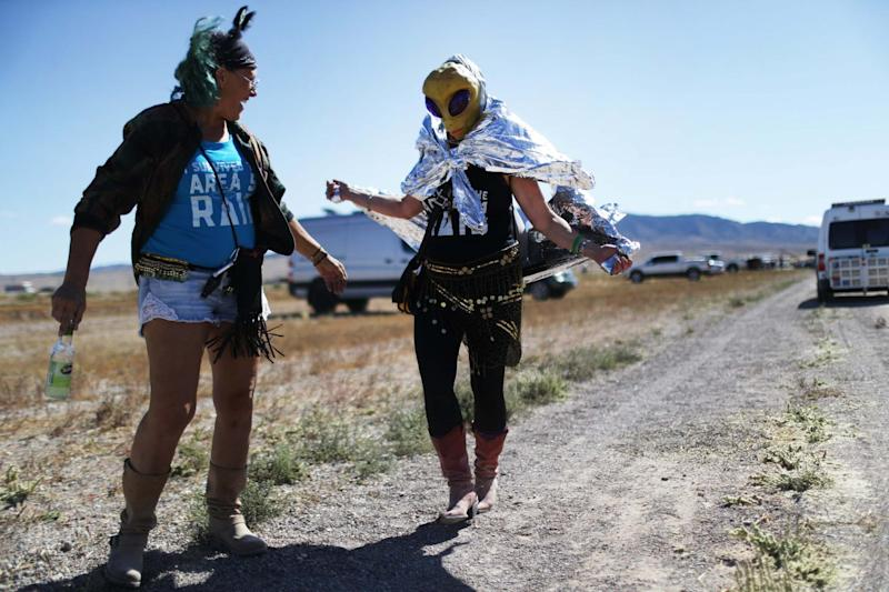 Alien hunters flocked to Rachel for a spinoff of the Storm Area 51 event. (Getty Images)