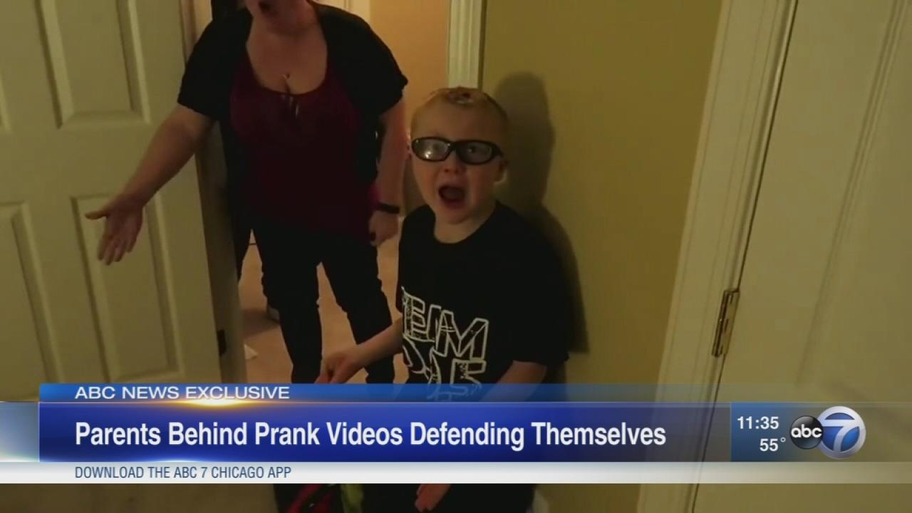 A Maryland couple is under fire for their YouTube pranks, which have gotten millions of views and sparked outrage, child abuse accusations and a police investigation.
