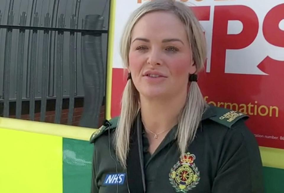 Two paramedics, who were stabbed while attending a patient in Wolverhampton earlier this month have praised the colleagues who came to their aid and helped save their lives.  See SWNS story SWMDstab.  Crewmates Michael Hipgrave and Deena Evans were attending a 999 call on Stephens Close in Wolverhampton on Monday 6th July when the incident took place. Both suffered serious injuries and were treated at the Queen Elizabeth Hospital in Birmingham.  Since the incident, the pair have been inundated with messages of love from colleagues and members of the public, for which they are extremely grateful.