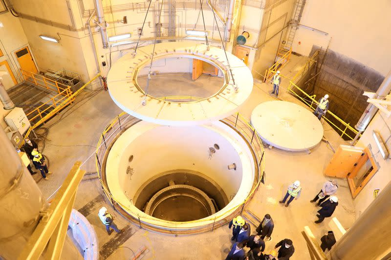 View of nuclear water reactor at Arak
