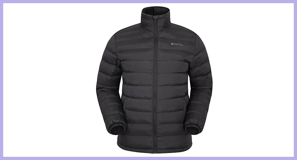 Mountain Warehouse Men's Padded Jacket Water Resistant Insulated Winter Coat