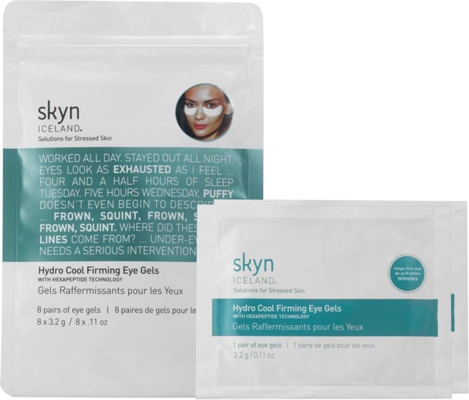 <p>These <span>Skyn Iceland Hydro Cool Firming Eye Gels</span> ($33) take down puffiness almost immediately.</p>