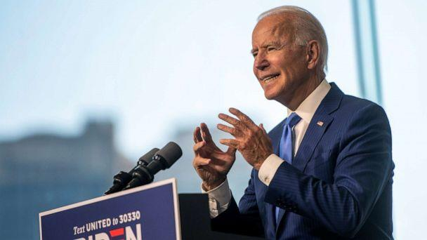 PHOTO: Democratic U.S. presidential nominee and former Vice President Joe Biden delivers remarks regarding the Supreme Court at the National Constitution Center in Philadelphia, Pennsylvania, U.S., September 20, 2020. (Mark Makela/Reuters)