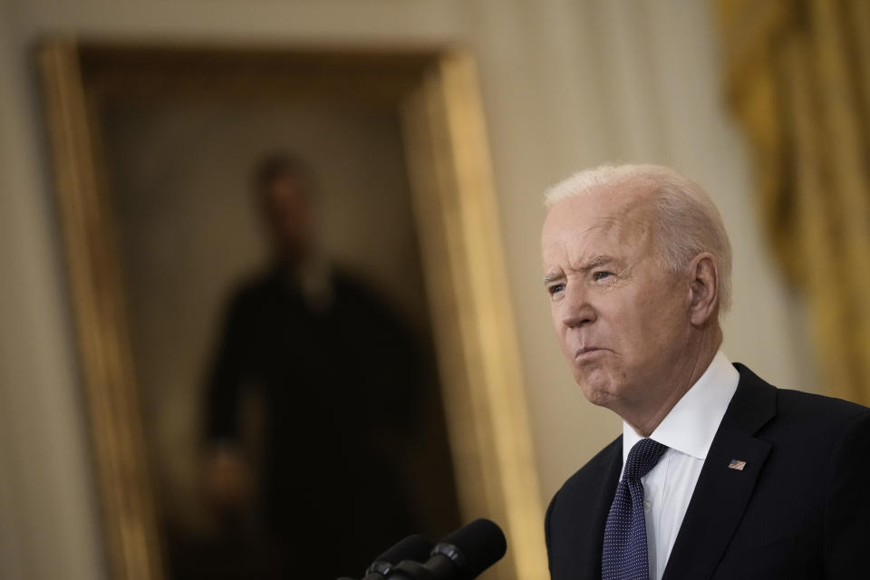 U.S. President Joe Biden delivers remarks on the economy in the East Room of the White House on May 10, 2021 in Washington, DC. (Drew Angerer/Getty Images)