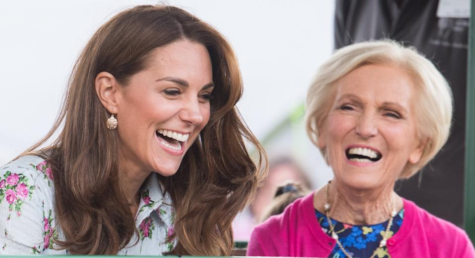 "Kate Middleton has revealed one of Prince Louis' first phrases was ""that's Mary Berry"" [Image: Getty]"