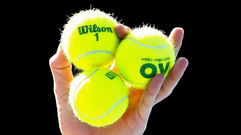 The official balls used at the Australian Open. Pic: Getty