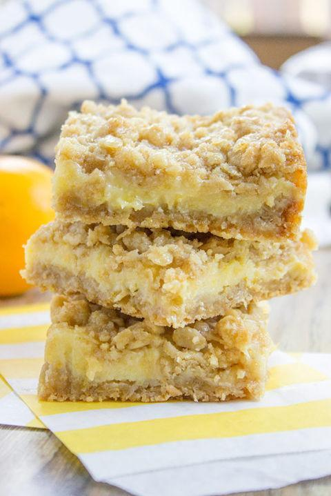 """<p><span>This versatile recipe also tastes delicious with dried blueberries or dried cranberries-yum!</span></p><p><strong>Get the recipe at <a href=""""https://dinnerthendessert.com/creamy-lemon-crumb-bars/"""" rel=""""nofollow noopener"""" target=""""_blank"""" data-ylk=""""slk:Dinner Then Dessert"""" class=""""link rapid-noclick-resp"""">Dinner Then Dessert</a></strong><span><strong>.</strong></span></p>"""