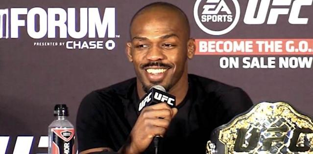 Jon Jones at the UFC 232 post-fight press conference
