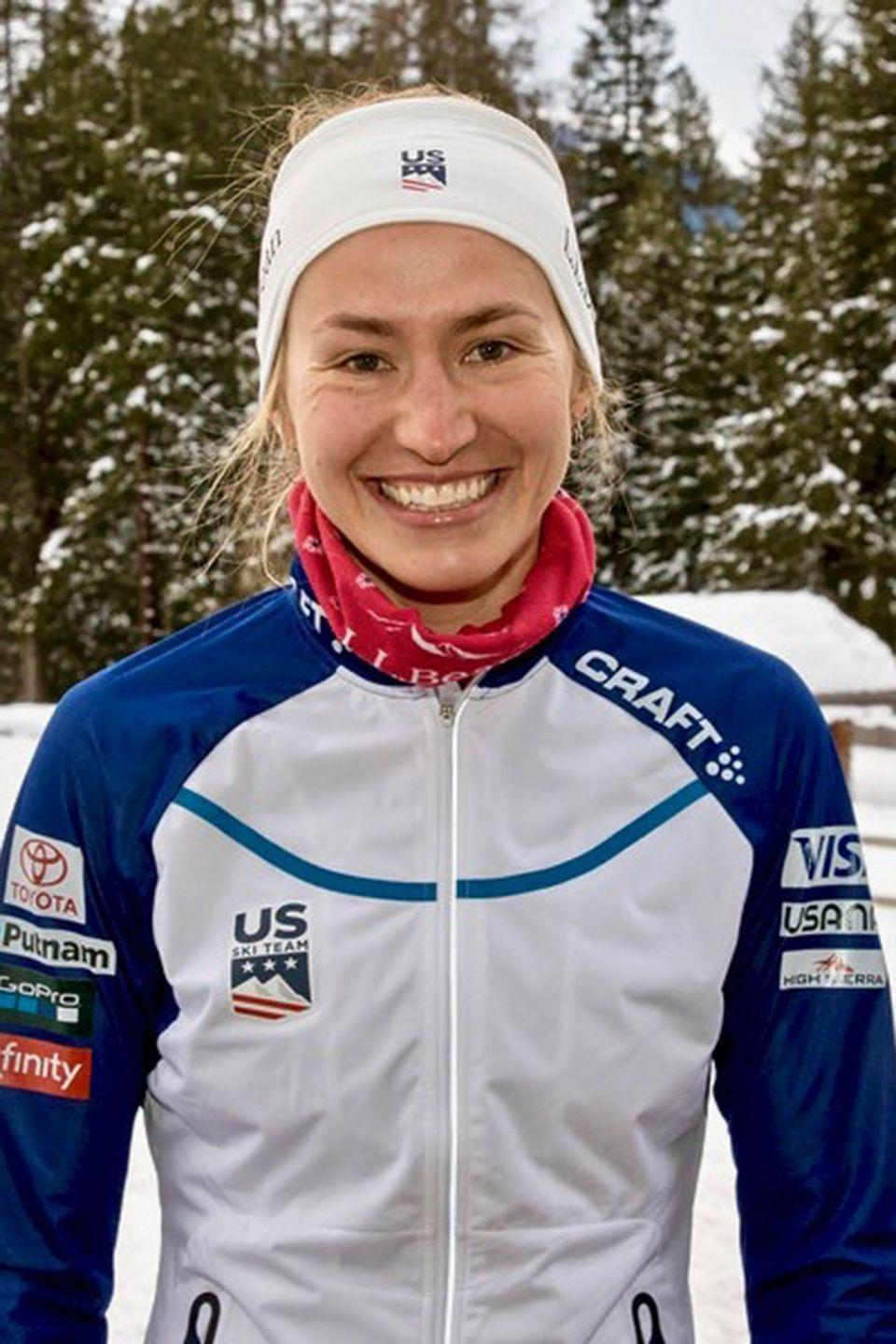 <p>While on the World Cup circuit throughout Europe, Caldwell makes a point of trying interesting foods in all the different countries. She never passes up an opportunity to dig into brunost (brown cheese) from Norway, pasta, gnocchi or spaetzle, and she has a special affinity for European gummies and jelly beans.</p>