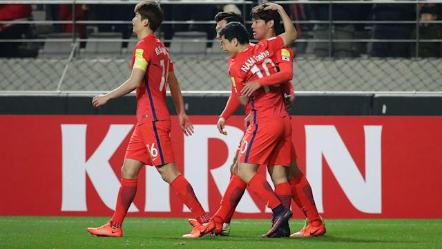 Hong Jeong-ho's goal was enough for South Korea to see off a spirited Syria side in World Cup qualifying.