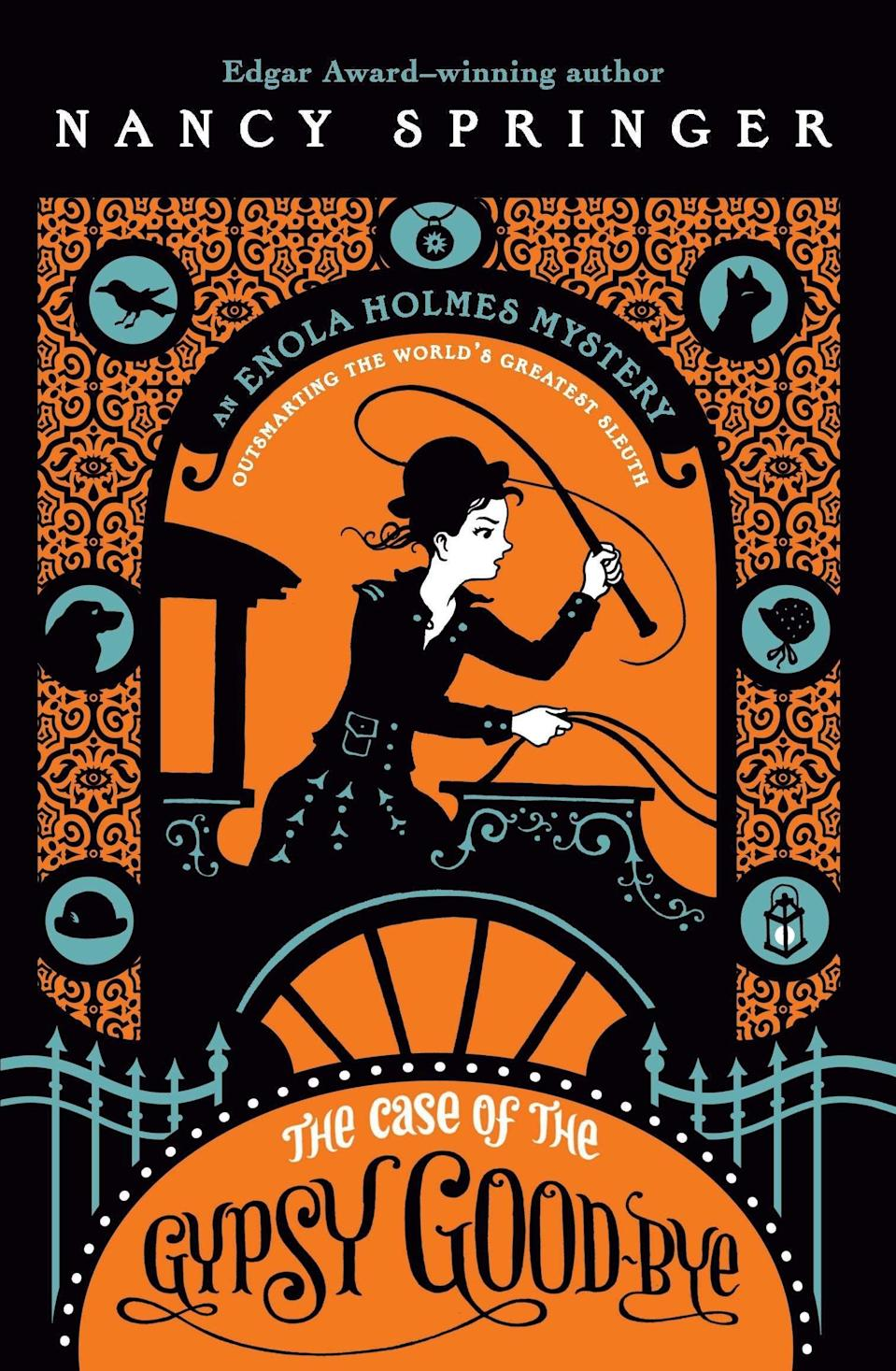 <p>In the final Enola mystery, <span><strong>The Case of the Gypsy Goodbye</strong></span> ($7), she must work with Sherlock to solve more than one complex mystery. What happened to their mother and Lady Blanchefleur? And does their brother Mycroft have something to do with it?</p>
