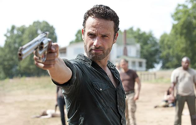 English actor Andrew Lincoln as Detective Rick Grimes in post-apocalyptic show Walking Dead (Photo courtesy of Fox International Channels)
