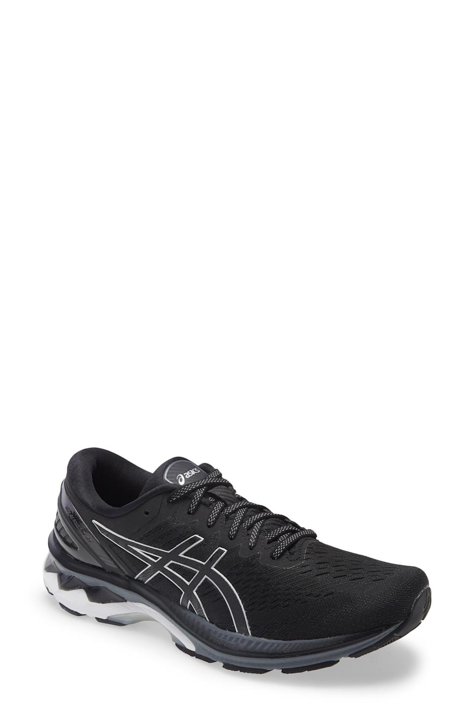 """<p><strong>ASICS</strong></p><p>nordstrom.com</p><p><a href=""""https://go.redirectingat.com?id=74968X1596630&url=https%3A%2F%2Fwww.nordstrom.com%2Fs%2Fasics-gel-kayano-27-running-shoe-men%2F5784739&sref=https%3A%2F%2Fwww.menshealth.com%2Fstyle%2Fg37081969%2Fnordstroms-anniversary-sale-best-sneakers%2F"""" rel=""""nofollow noopener"""" target=""""_blank"""" data-ylk=""""slk:BUY IT HERE"""" class=""""link rapid-noclick-resp"""">BUY IT HERE</a></p><p><del>$160<br></del><strong>$99.90</strong></p><p>There's a reason why ASICS' GEL-Kayano 27 is one of the brand's most popular sneakers. The GEL detailing in the sole absorbs shock, while the FlyteFoam Propel cushion will give a major pep to your step. And, if you want a pair that will hold up over time, you're in luck: ASICS' High Abrasion Rubber withstands wear and tear.</p>"""