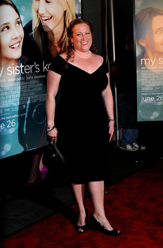 """<a href=""""http://movies.yahoo.com/movie/contributor/1809183054"""">Jodi Picoult</a> at the New York City premiere of <a href=""""http://movies.yahoo.com/movie/1810003155/info"""">My Sister's Keeper</a> - 06/24/2009"""