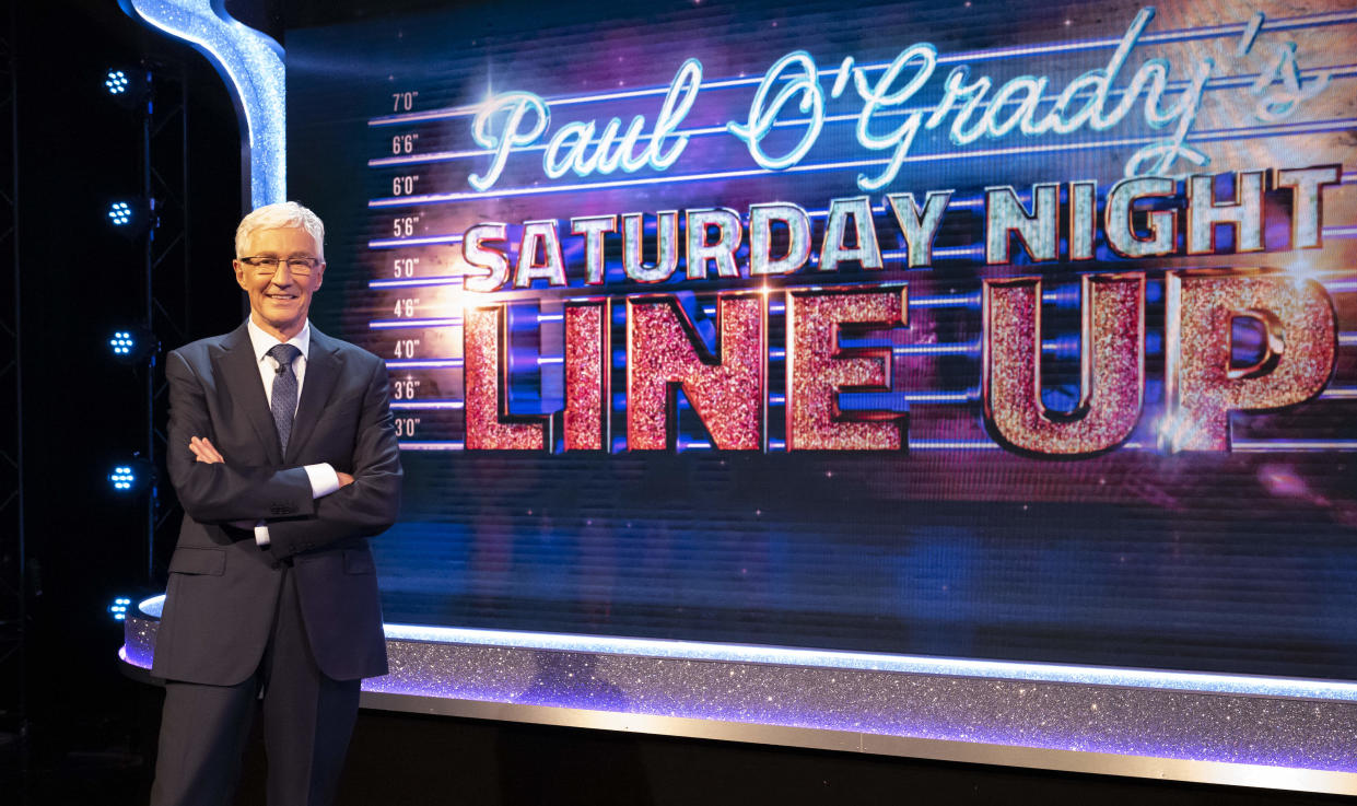 This image and the information contained herein is strictly embargoed until 00.01 Tuesday 7th September 2021  From Olga TV/Silver Star Productions Ltd  Paul OÕGradyÕs Saturday Night Line Up on ITV and ITV Hub   Pictured: Paul OÕGrady.  This photograph is (C) Olga TV/Silver Star Productions Ltd/Ken McKay and can only be reproduced for editorial purposes directly in connection with the programme or event mentioned above, or ITV plc. Once made available by ITV plc Picture Desk, this photograph can be reproduced once only up until the transmission [TX] date and no reproduction fee will be charged. Any subsequent usage may incur a fee. This photograph must not be manipulated [excluding basic cropping] in a manner which alters the visual appearance of the person photographed deemed detrimental or inappropriate by ITV plc Picture Desk.  This photograph must not be syndicated to any other company, publication or website, or permanently archived, without the express written permission of ITV Picture Desk. Full Terms and conditions are available on the website www.itv.com/presscentre/itvpictures/terms  For further information please contact: james.hilder@itv.com / 0207 157 3052
