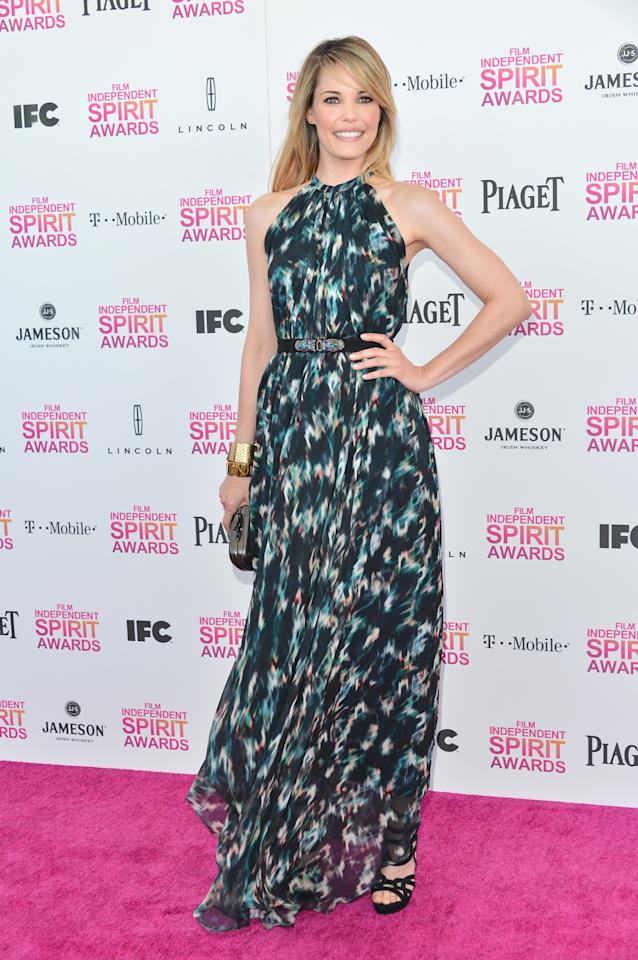 SANTA MONICA, CA - FEBRUARY 23:  Actress Leslie Bibb attends the 2013 Film Independent Spirit Awards at Santa Monica Beach on February 23, 2013 in Santa Monica, California.  (Photo by Alberto E. Rodriguez/Getty Images)