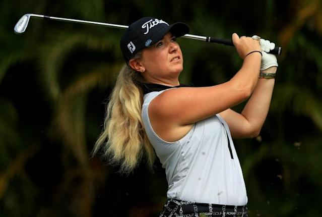 England's Bronte Law is confident in LPGA safety measures for the tour's return to competition Friday at Toledo, Ohio (AFP Photo/Mike Ehrmann)