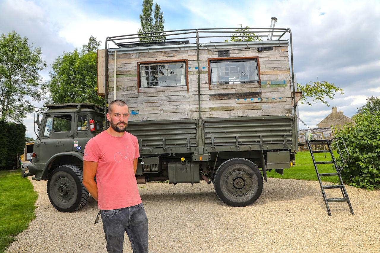 'The Lorry Life' by Tom Duckworth is a totally portable shed which allows Tom to take it around the UK. (PA)
