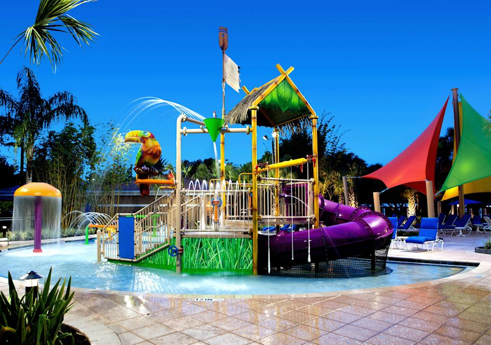 Guests at the Renaissance Orlando can enjoy the onsite water park or the attractions at nearby SeaWorld, Aquatica and Discovery Cove.