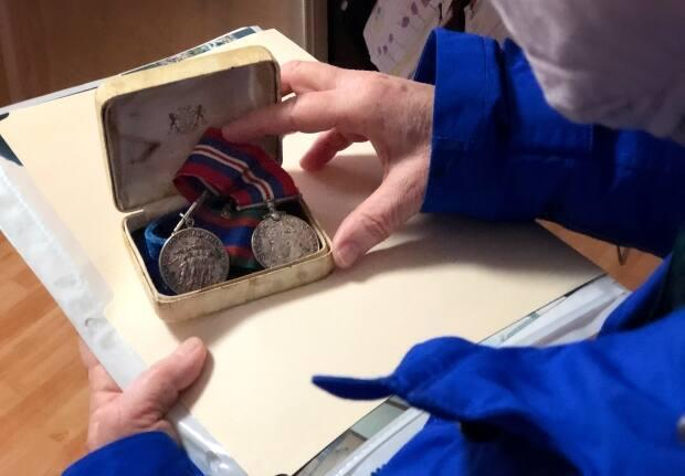 The medals were discovered in the attic of a Halifax home. (Brett Ruskin/CBC - image credit)