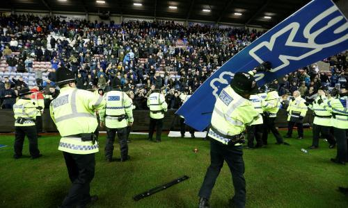 Wigan shock win over Manchester City sparks angry scenes at DW Stadium