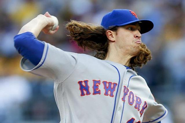 Jacob deGrom provided the deepest outing by a Mets starting pitcher since Aug. 21, 2016. (AP)