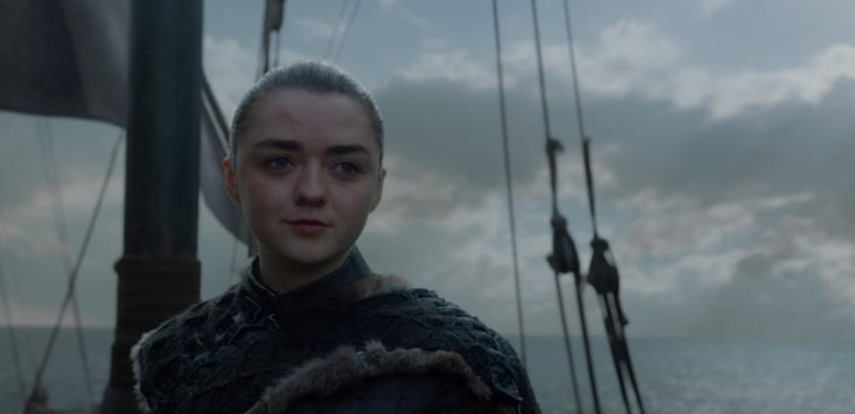Arya's gone from an innocent girl shooting arrows to a Faceless assassin to the person who jumped off of an invisible trampoline to kill the Night King and save humanity.<br /><br />She's done all there is to do in Westeros. Now, she's ready for her next adventure.<br /><br />A girl left the Six Kingdoms to see what No One has ever seen.