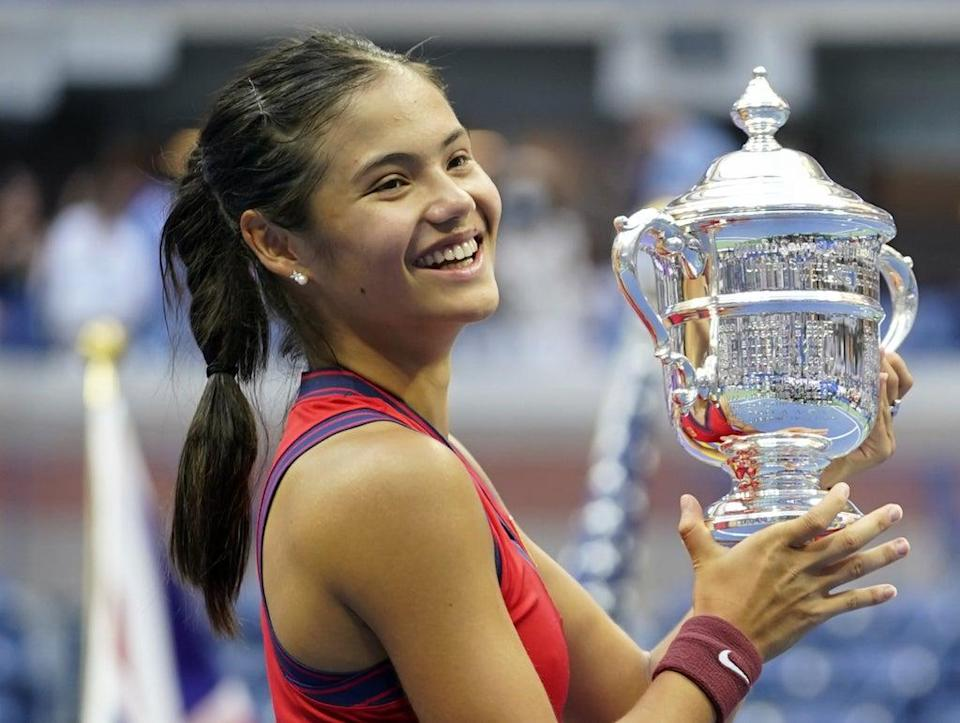 Emma Raducanu has the world at her feet after winning the US Open  (PA Media)