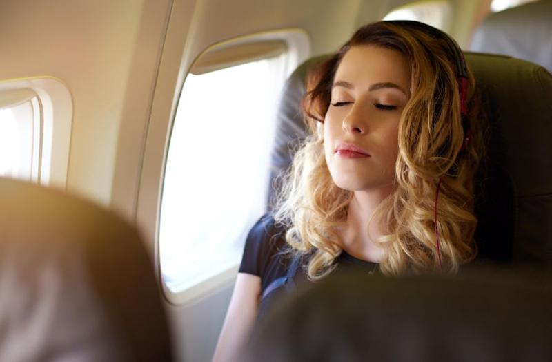 Sleeping on a plane is not the easiest thing. Photo: Getty
