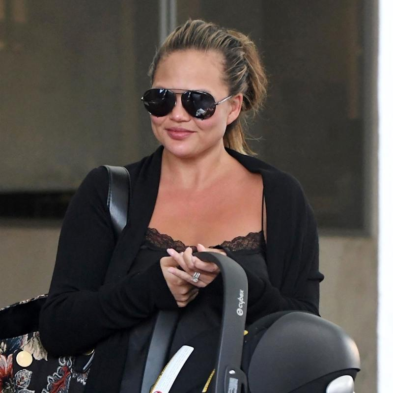 Chrissy Teigen Proves That Stylish New Mom Hair Is As Simple