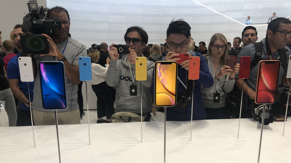The iPhone XR comes in a range of juicy fruit colors.