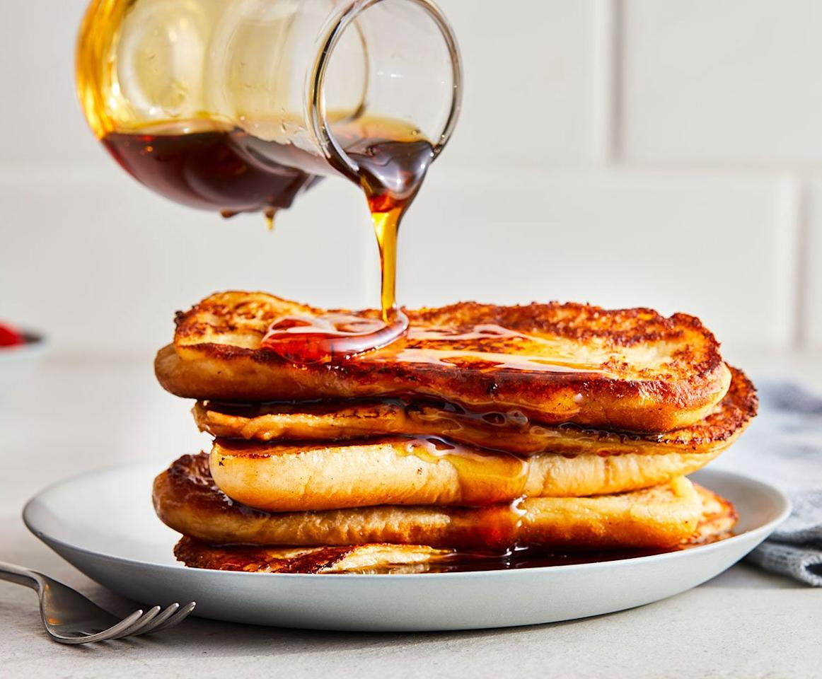 """<p>This simple French toast recipe is an ingenious riff on the breakfast classic, using hot dog buns in place of regular bread. The recipe plays off the original <em>pain perdu</em> better than a white loaf or baguette would because old-school French toast is made with old brioche, which is an egg-enriched dough—just like hot dog buns.</p> <p><strong>Get the recipe: <a href=""""https://www.realsimple.com/food-recipes/browse-all-recipes/french-toast-sticks-recipe"""" target=""""_blank"""">French Toast Sticks</a></strong></p>"""
