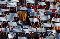 Real Madrid lose in troubled Catalonia