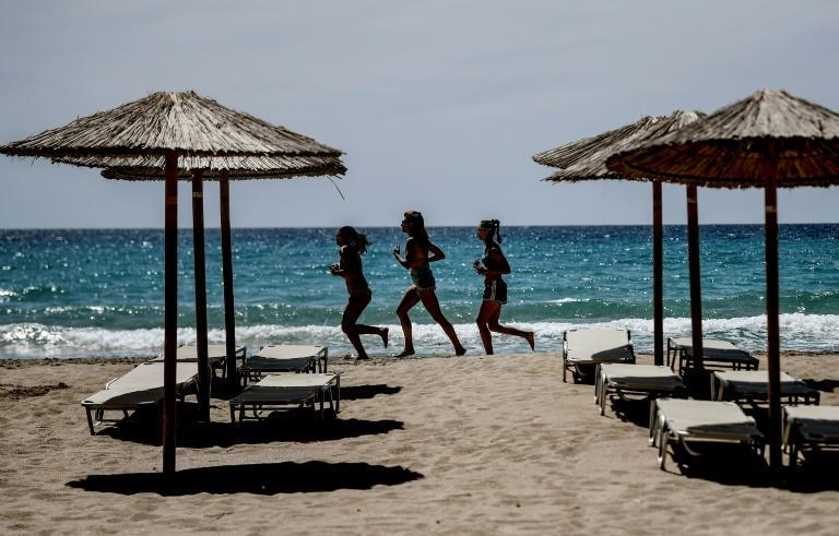 Falasarna beach was famous for its big summer parties, which will once again not be possible this year, but some tourists have already returned