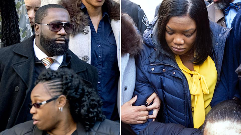 Michael Thomas (left) and Tova Noel (right) at court.