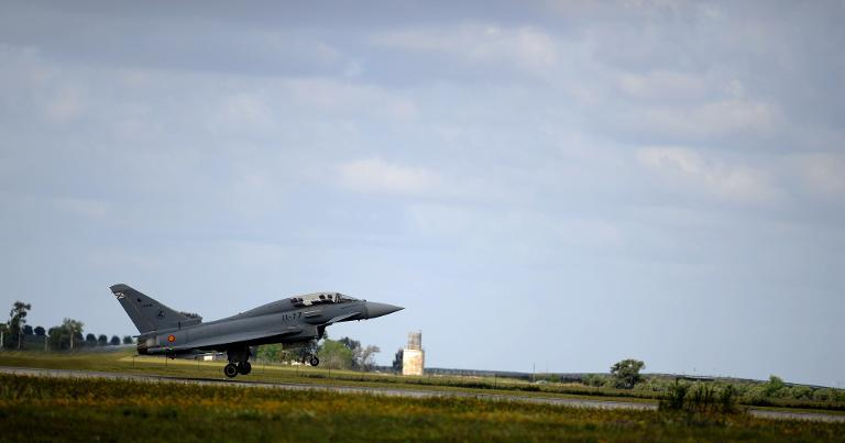 Eurofighter jet crashes in southern Spain